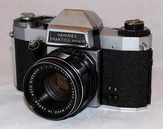 Vintage Hanimex Praktica Nova 1B 35mm SLR Film Camera, Made In East Germany, Circa 1967