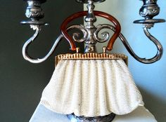 Vintage Whiting & Davis White Mesh Handbag by EraAntiquesandFinds