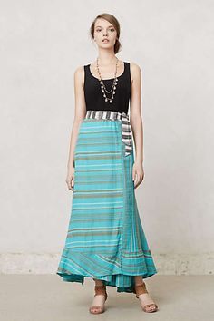 Anthropologie - Cinched Waves Maxi Skirt