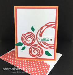 Create a modern look with the Swirly Scribbles Thinlits Dies. Birthday card created by Mary Fish, Stampin' Up! Demonstrator. 1000+ StampinUp & SUO card ideas. Read more http://stampinpretty.com/2016/05/meet-stampin-swirly-scribbles-dies.html