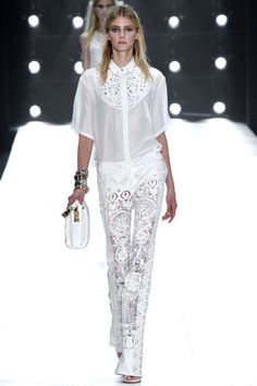 Roberto Cavalli Leather Laser Cut Trousers