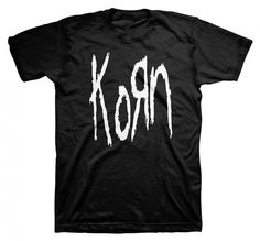 This black t-shirt from Korn features the group's classic old-school logo in white across the front. An awesome design that's perfect for any Korn fan! Baby & Toddler Apparel. Best Rock Apparel. Want iconic and new band merch designs that span all genres of rock music?. | eBay!