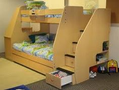 Bunk bed stairs.