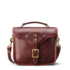 The Charlie Crossbody in Oxblood is the one you need for Fall.