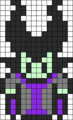 Sleeping Beauty Maleficent Perler Bead Pattern / Bead Sprite