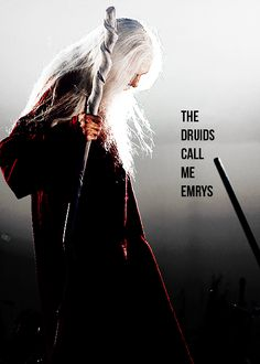 So, most people all think that Old!Merlin is Emrys, but that's just what Morgana calls him. ALL of Merlin is Emrys--not just his elderly alter ego. That's Dragoon. lol --description by DestinyandDoom