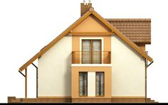 Detached house with attic and garage, intended for person family. Due to the clear layout of the premises and. Country House Plans, Wooden House, Design Case, Simple House, Detached House, Home Fashion, Building A House, Home Goods, New Homes
