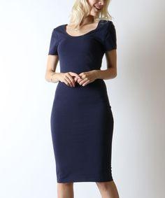 Navy Bodycon Dress