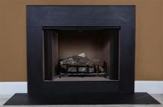 $378 Buy full size Black Slate Fireplace Surround Facing for an affordable and timeless look.
