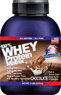100% Whey Protein Matrix 5lbs,  69 Servings : Murican Whey Protein: Highest quality combination of whey isolate and whey concentrate protein,26 g of protein per serving,High in biological value,Fortified with glutamine peptides,Rich in Branch chain amino acids and Glutamine,Gluten Free,Best Used Date of Two Years