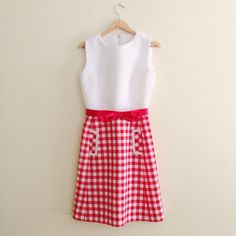 60s Picnic Print Fit & Flare Dress https://www.etsy.com/listing/242514928/vintage-gingham-print-fit-flare-dress