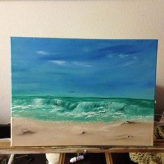 ocean painting Ocean Mural, Ocean Art, Surf, Chalk Paint Projects, Do It Yourself Home, Your Paintings, Coastal Decor, Printmaking, Design Art