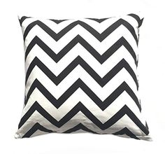 "Chevron Striped Accent Decorative Cotton Canvas Throw Pillow Cover Cushion 20 X 20"" (Black) Anastasya http://www.amazon.com/dp/B00OZPLJW4/ref=cm_sw_r_pi_dp_aAPjvb0JQDW76"