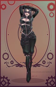 New Alternate Victorian Catwoman 2015 by NoFlutter.deviantart.com on @DeviantArt