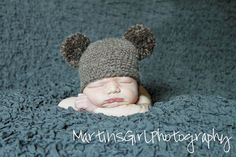 bear beanie  newborn photography prop