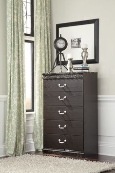 The 'Vachel' chest has 5 working drawers