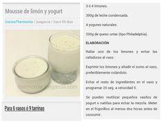 Mousse de limon y yogurt