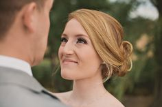 gorgeous bridal hair and make up + the look of love!  Victoria Greener Photography | Bridal Musings read more here: http://bridalmusings.com/2013/09/fun-relaxed-rustic-wedding-in-a-little-white-chapel/