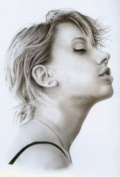 Realistic drawing of the stunning Scarlett Johansson. The Black Widow from the Marvel comic book movie series the Avengers. Graphite pencil portrait on A4 sketch paper. I hope you like it guys!