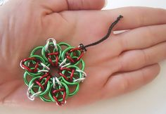 Christmas ornament in Chainmaille