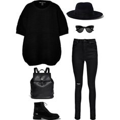 """Only black"" by martab on Polyvore"