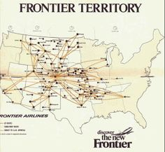 Frontier Route Map on
