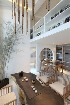 Asian Home Decor, simply witty pin plan, analyze the pin Modern Chinese Interior, Asian Interior Design, Modern Asian, Interior Design Inspiration, Interior Styling, Design Ideas, Chinese Tea Room, Design Japonais, Zen Interiors