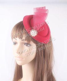 13 colors felt party fascinators with crinolines bridal cocktail fascinator hats elegant women millinery hair accessories