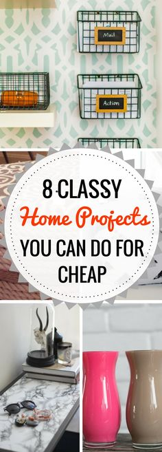 A list of DIY Home Decor projects that look high-class but are actually super CHEAP!