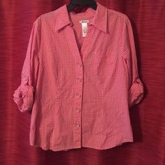 Liz and co casual shirt Like new condition Liz Claiborne Tops Button Down Shirts