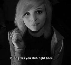 Emma Blackery. She's helped me through so much and has really kept me going. I'd be a whole other person if I had not watched her. She just gives such great advice in really hard times and I owe her so much. If you haven't heard of her, you should check out her channel. She's amazing.