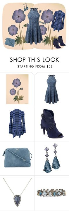 """""""Geranium Blue"""" by jeanstapley ❤ liked on Polyvore featuring ViSSEVASSE, Autumn Cashmere, Vince Camuto, The Row, Jupp Fine Jewellery, Soru Jewellery and Alexis Bittar"""