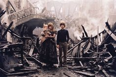 A scene from the movie where Violet, Klaus and Sunny Baudalaire find their house burned, all their memories gone, no trace of how the mysterious fire started, and their parents DEAD. Although this movie sounds scary or weird, it's actually really funny and entertaining.