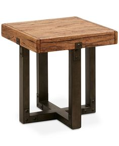 Sydne Side Table Quick Ship Rustic Wood Room End