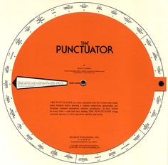 puntuator - grammar volvelle