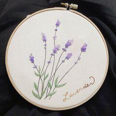 #라벤더  #꽃자수  여리여리하게  #자수나무 #구미프랑스자수  #embroidery