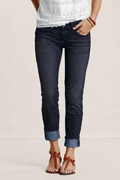 Slim Leg Jeans #landsendcanvas