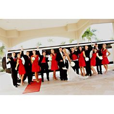 #black red white wedding