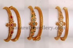 Jewellery Designs: uncut diamond bangle