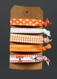 Hair Ties University of Tennessee by JasmineClash on Etsy Tennessee Football, Tennessee Titans, Tennessee Volunteers Football, Alabama Football, American Football, College Football, Vol Nation, Tn Vols, Tennessee Girls
