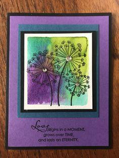 Stampin' Up's Dandelion Wishes Created by Anita Hurlburt Pumpkin Cards, Dandelion Wish, Flower Cards, Paper Flowers, Stamping Up Cards, Dandelions, Happy Birthday Cards, Card Tutorials, Watercolor Cards