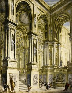 Giuseppe Galli Bibiena Italian Art, Romanesque, Old Master, Art And Architecture, Impressionist, Painting & Drawing, Barcelona Cathedral, Fine Art America, Oil On Canvas