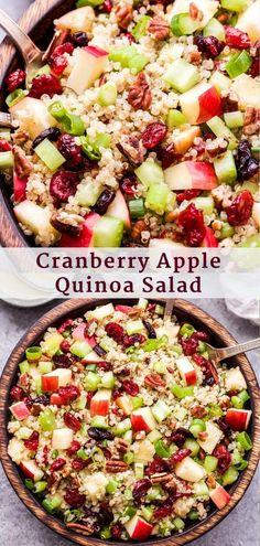 Healthy Salad Recipes, Yummy Recipes, Whole Food Recipes, Diet Recipes, Healthy Snacks, Healthy Eating, Cooking Recipes, Best Quinoa Salad Recipes, Cranberry Salad Recipes