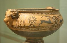 A Wonderful Rhodian Pottery Krater with Ram's Head Handles - Carline Goalley Ancient Greek Art, Ancient Greece, Viking Jewelry, Ancient Jewelry, Vases, Greek Pottery, 17th Century Art, Pottery Making, Pottery Painting