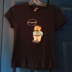 Simpsons t-shirt Cute, navy blue Simpsons t-shirt featuring Ralph Wiggum. Labeled medium but fits more like a small. Tops Tees - Short Sleeve