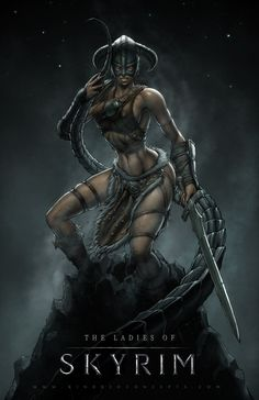 Ladies of Skyrim Picture (2d, fantasy, character, girl, woman, fan art, lady, warrior)