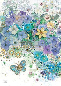 BugArt Florals ~ Hydrangea. FLORALS Designed by Jane Crowther.
