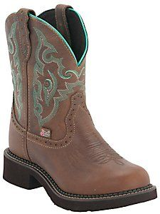 Justin® Gypsy™ Women's Tan Jaguar Round Toe Western Boots. My next boots.