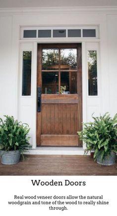 Vintage Doors Old House Journal Magazine. Best Exterior Door Ideas {our Front Door Makeover} Four . Windows Doors With Style Garage Door Design Modern . Home Design Ideas Future House, Design Exterior, Interior Exterior, Door Design, Diy Exterior Door, Interior Ideas, Exterior Doors With Sidelights, Exterior Doors With Glass, Interior Modern