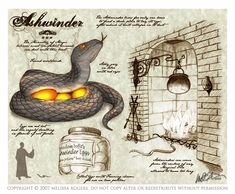 he Ashwinder is a serpent that is created from the remains of any magical fire that is allowed to burn unchecked. As it is a serpentine creature, the Ashwinder may very well be susceptible to Parseltongue magic. Theme Harry Potter, Harry Potter Books, Harry Potter Love, Harry Potter Fandom, Harry Potter World, Harry Potter Hogwarts, Magical Creatures, Fantasy Creatures, Desenhos Harry Potter